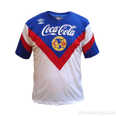 Club America 93-94 Away White Retro Cheap Soccer Jerseys